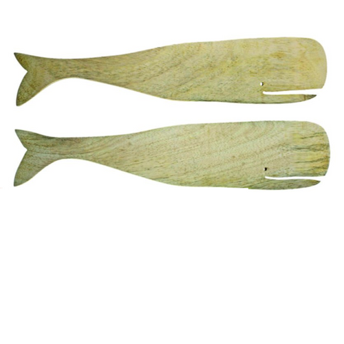 Natural Mango Wood Whale Serving Set