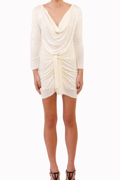 drape dress cream
