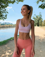 Load image into Gallery viewer, Lorna Jane Vintage Stripe Sports Bra