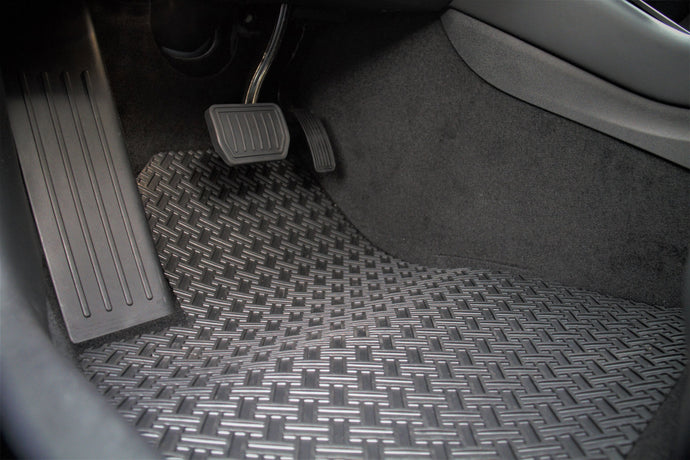 Custom Model 3 All-Weather Mats Set (BLACK)