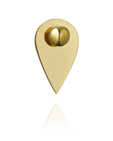 LARGE DROP GOLD PLATED