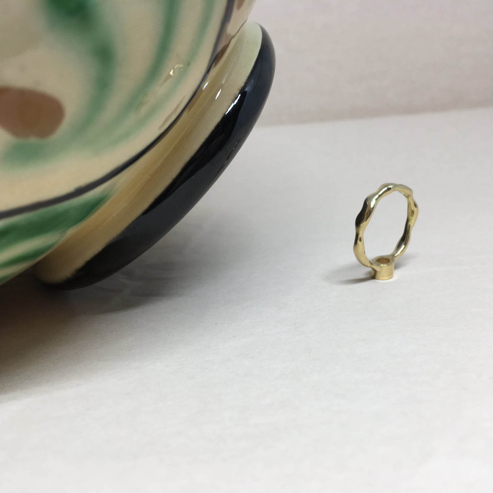 Liquid ring with sapphire.