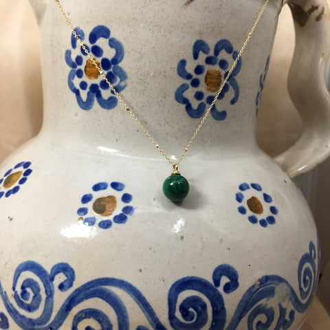 Round Malachite Necklace