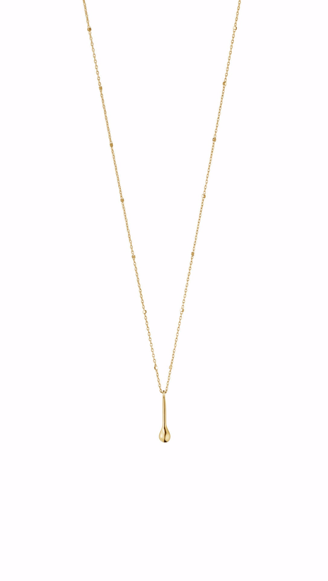 MOVING TEARDROP · NECKLACE · 18KT. GOLD