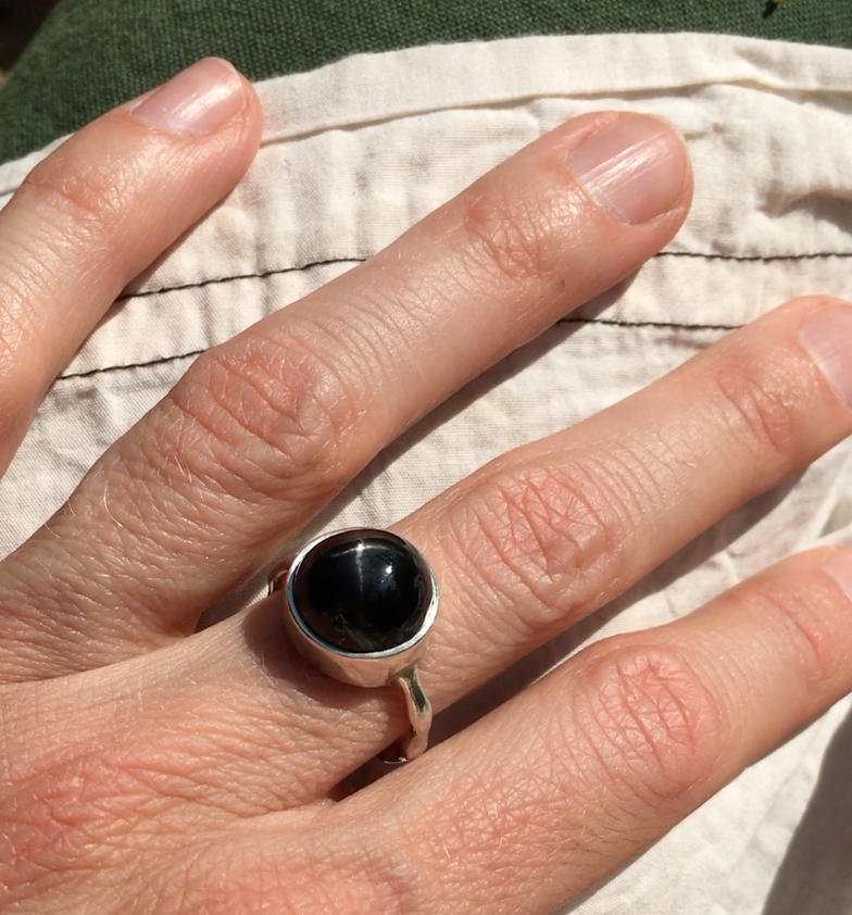 Star Diopside Liquid ring.