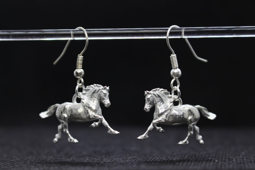 Welsh Cob Pewter Earrings