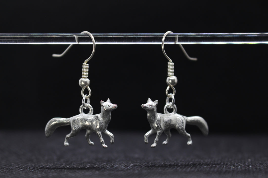 Fox Pewter Earrings