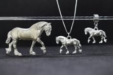 Load image into Gallery viewer, Shire Horse Bracelet Charm Pewter
