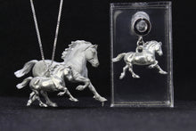 Load image into Gallery viewer, Welsh Cob Pewter Earrings
