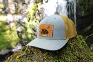 Amber Gold/Heather Grey 5 Panel Snapback