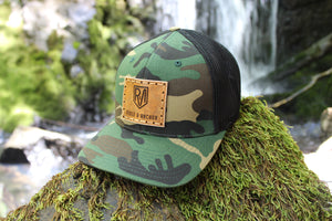 Camo w/black flex fit and original square R&A logo
