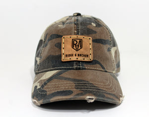 Youth Camo Garment Washed Cotton Twill Distressed Hat