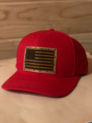 All American made 6 panel adjustable hat