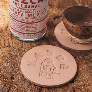 Madre Natural Leather Coasters