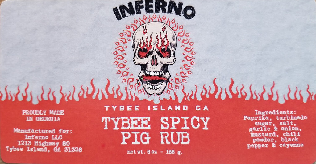 Inferno Tybee Spicy Pig Rub