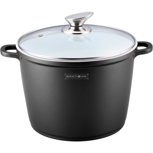 Royalty Line 24cm Ceramic Coating Stock Pot - Black