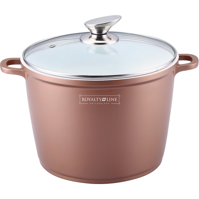 Royalty Line 24cm Ceramic Coating Stock Pot - Copper