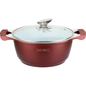 Royalty Line 26cm Ceramic Coating Casserole - Burgundy