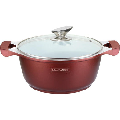 Royalty Line 20cm Ceramic Coating Casserole - Burgundy