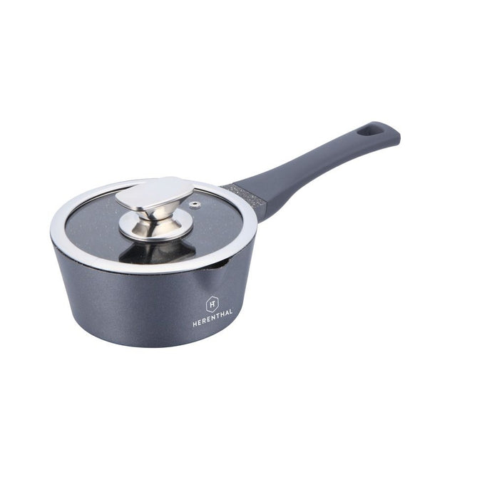 Herenthal 16cm Marble Coating Sauce Pan - Silver