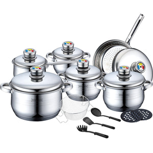 Royalty Line 18-piece Stainless Steel Cookware set