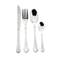 Royalty Line 72 Piece Mirror Finish Cutlery Set - Old Dutch Silver (s2)