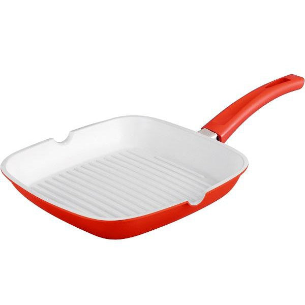 Royalty Line 24cm Ceramic Coating Grill Pan - Red