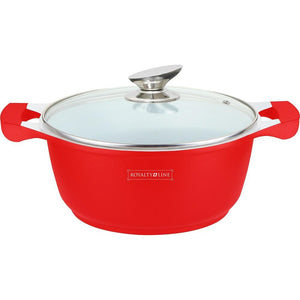 Royalty Line 20cm Ceramic Coating Casserole - Red