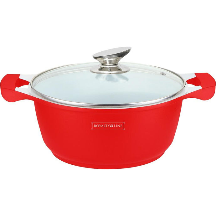 Royalty Line 28cm Ceramic Coating Casserole - Red