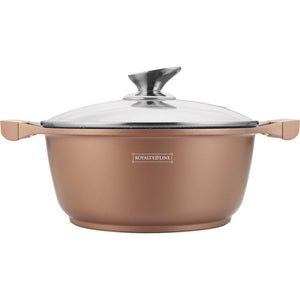 Royalty Line 26cm Marble Coating Casserole - Copper