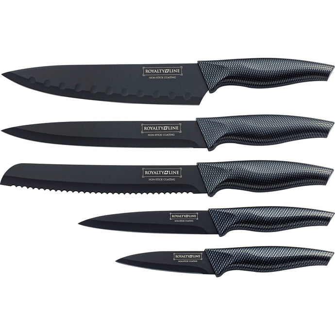 Royalty Line 5-Piece Non-Stick Knife Set RL-CB5