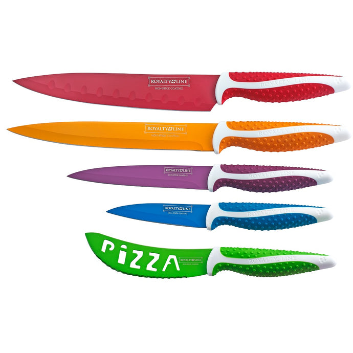 Royalty Line 5-Piece Non-Stick Coating Knife Set