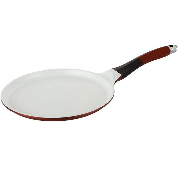 Royalty Line 26cm Ceramic Coating Pancake Pan - Burgundy