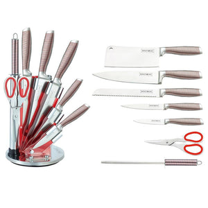 Royalty Line 8-Piece Stainless Steel Knife Set with Stand