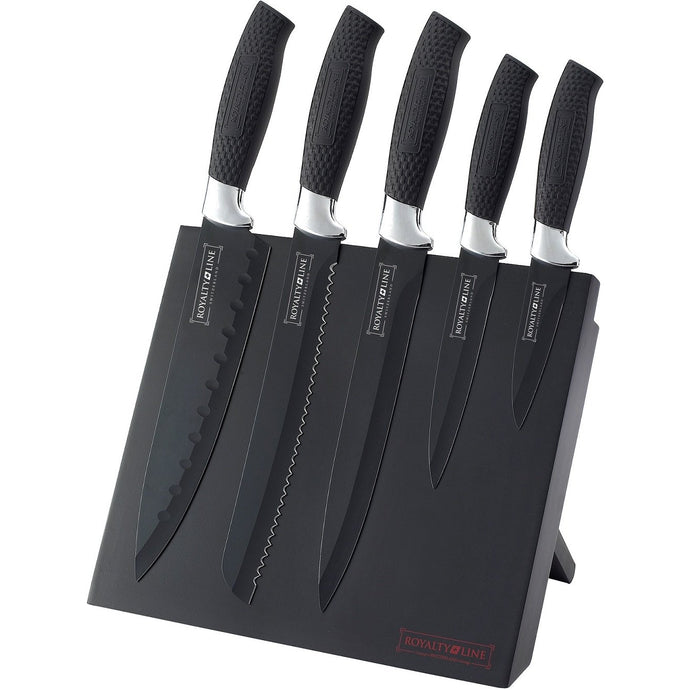 Royalty Line 5-Piece Stainless Steel Knife Set With Stand