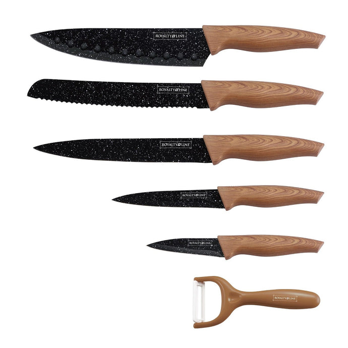 Royalty Line 5-Piece Marble Coating Knife Set RL-WD5L