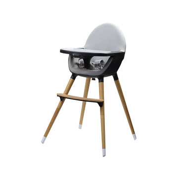 Kinder Line Beechwood Baby and Toddler High Feeding Chair - Dark Grey