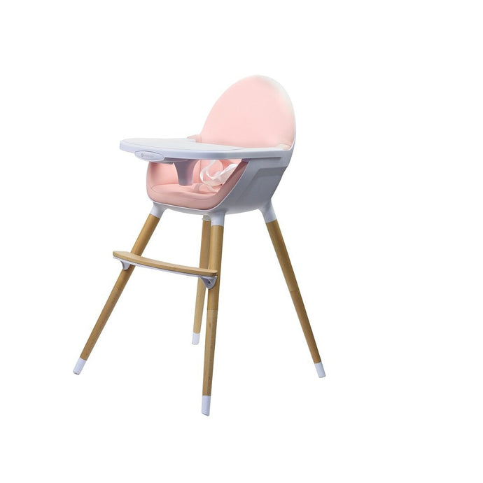 Kinder Line Beechwood Baby and Toddler High Feeding Chair - Pink