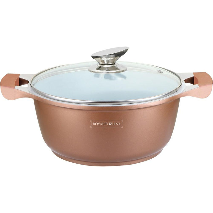Royalty Line 34cm Ceramic Coating Casserole - Copper
