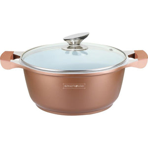 Royalty Line 32cm Ceramic Coating Casserole - Copper