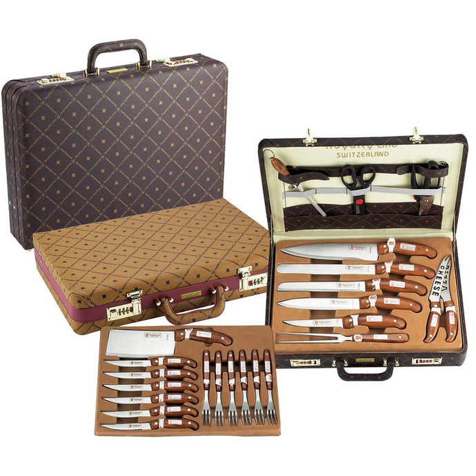 Royalty Line 25-Piece Knife Set in Leather Brief Case