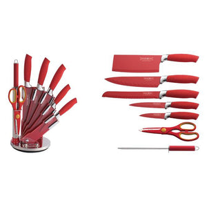 Royalty Line 8-Piece Non Stick Coating Knife Set with Stand