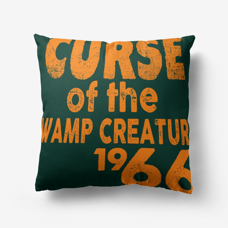 Curse of the Swamp Creature 1966 Premium Hypoallergenic Throw Pillow