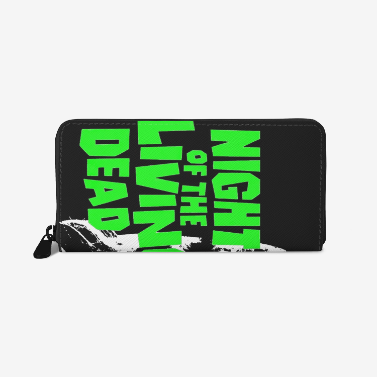 Night of the Living Dead Zombie Girl Premium PU Leather Wallet