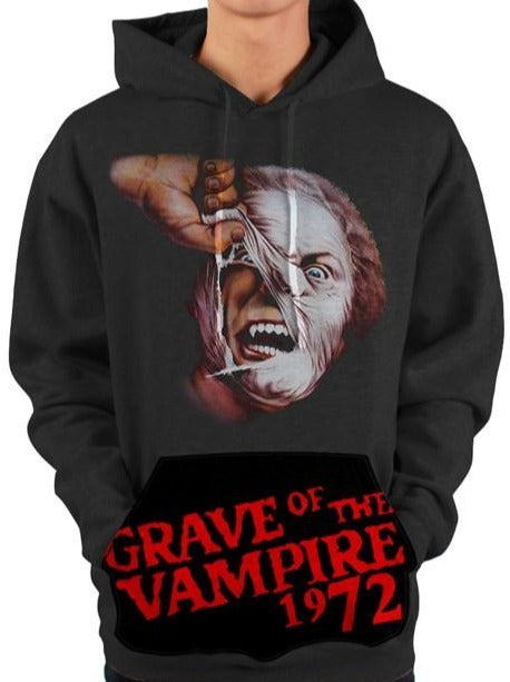Grave of the Vampire 1972 Vintage Pullover Vampire Pocket Hoody