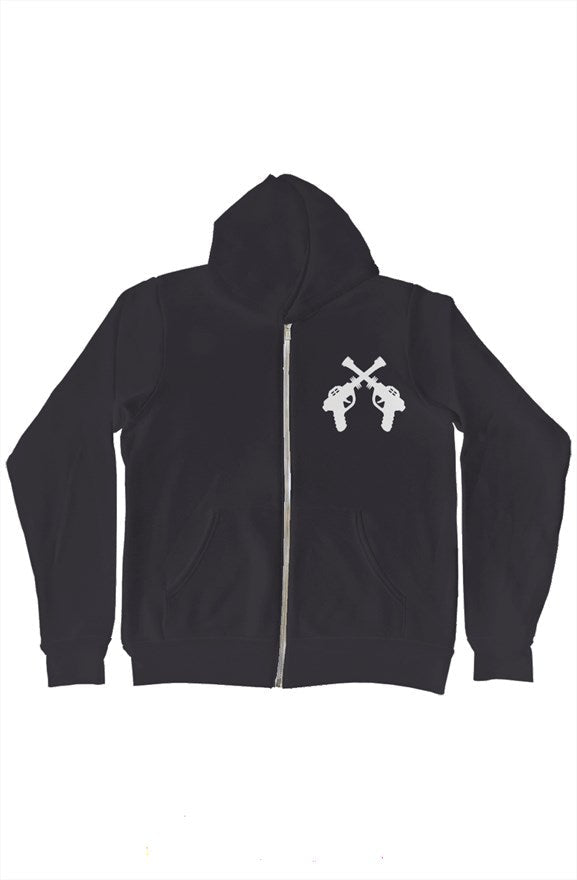 RayGun DoubleGuns Print Galaxy Zip-Up Hoody