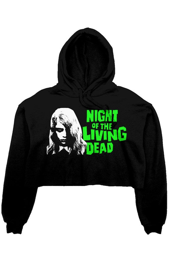 Night of the Living Dead Women's Crop Hoodie