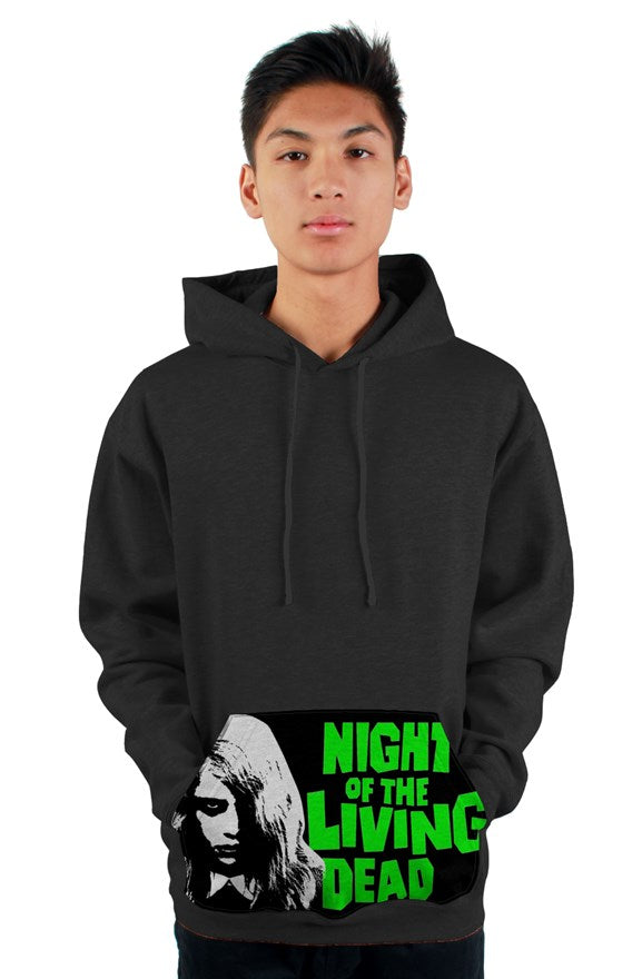 Night of the Living Dead Zombie Girl Kangaroo Pocket Pullover Hoody