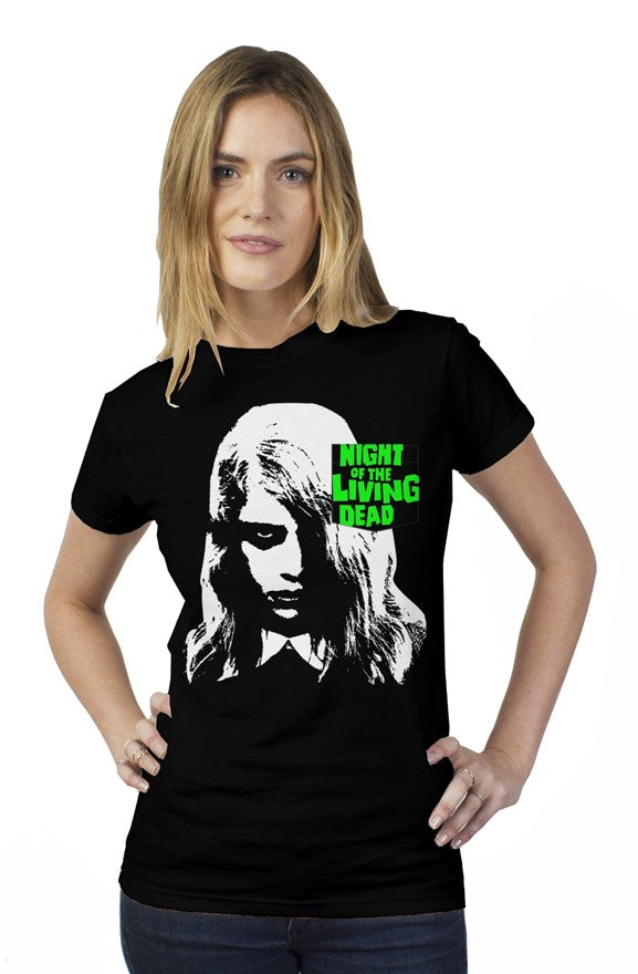 Women's Night of the Living Dead Zombie Girl Pocket T-Shirt