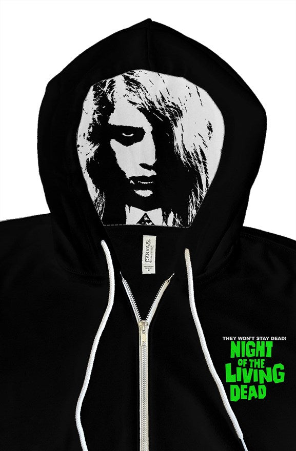 Night of the Living Dead Zombie Girl Custom Zip Up Hoody